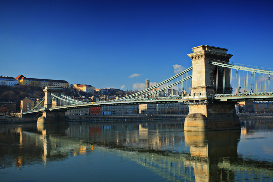 Цепной мост Сечени, Будапешт, Венгрия, Европа