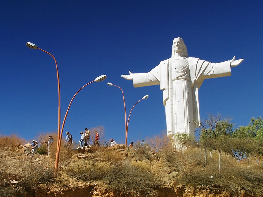 Статуя Иисуса и заповедники Кочабамбы, Боливия, Южная Америка