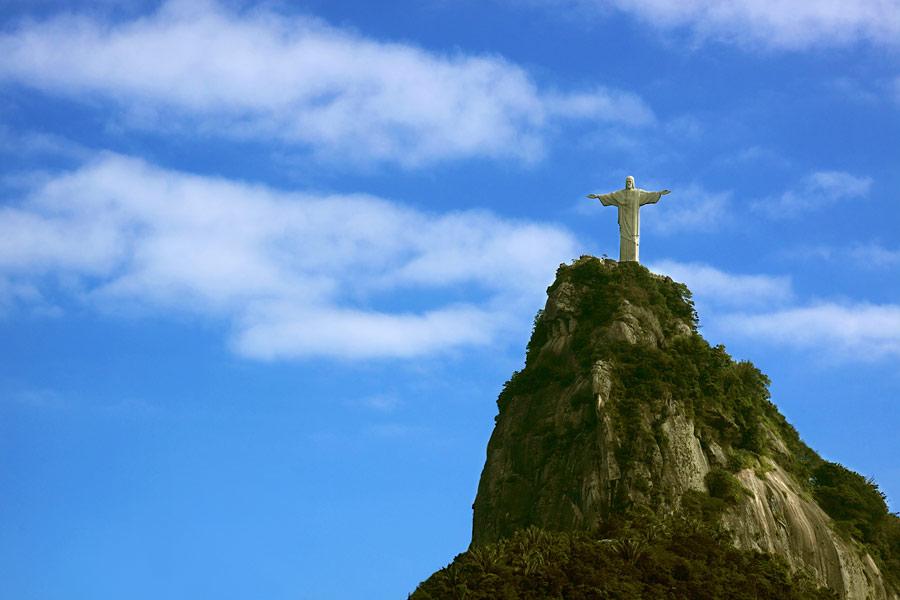 Статуя Христа-Искупителя, Гора Корковадо, Рио-де-Жанейро, Бразилия, Южная Америка