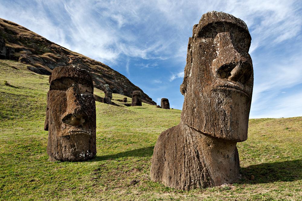Вулкан Рано Рараку, Остров Пасхи, Чили, Южная Америка