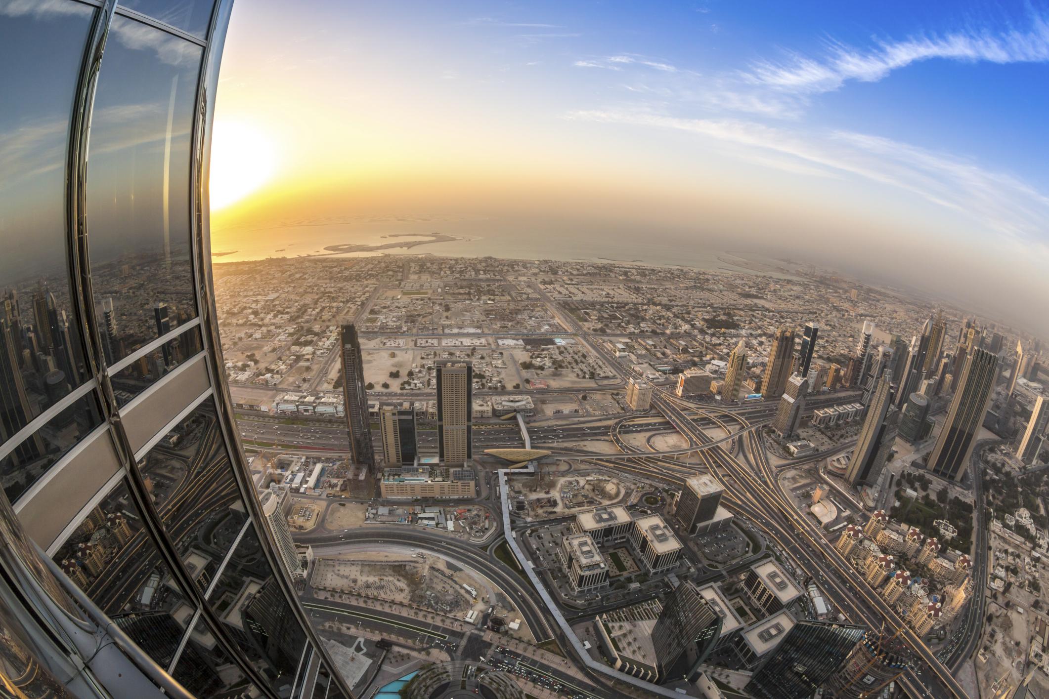 Смотровая площадка Бурдж Халифа, Небоскреб Бурдж Халифа, Дубай, ОАЭ, Ближний Восток