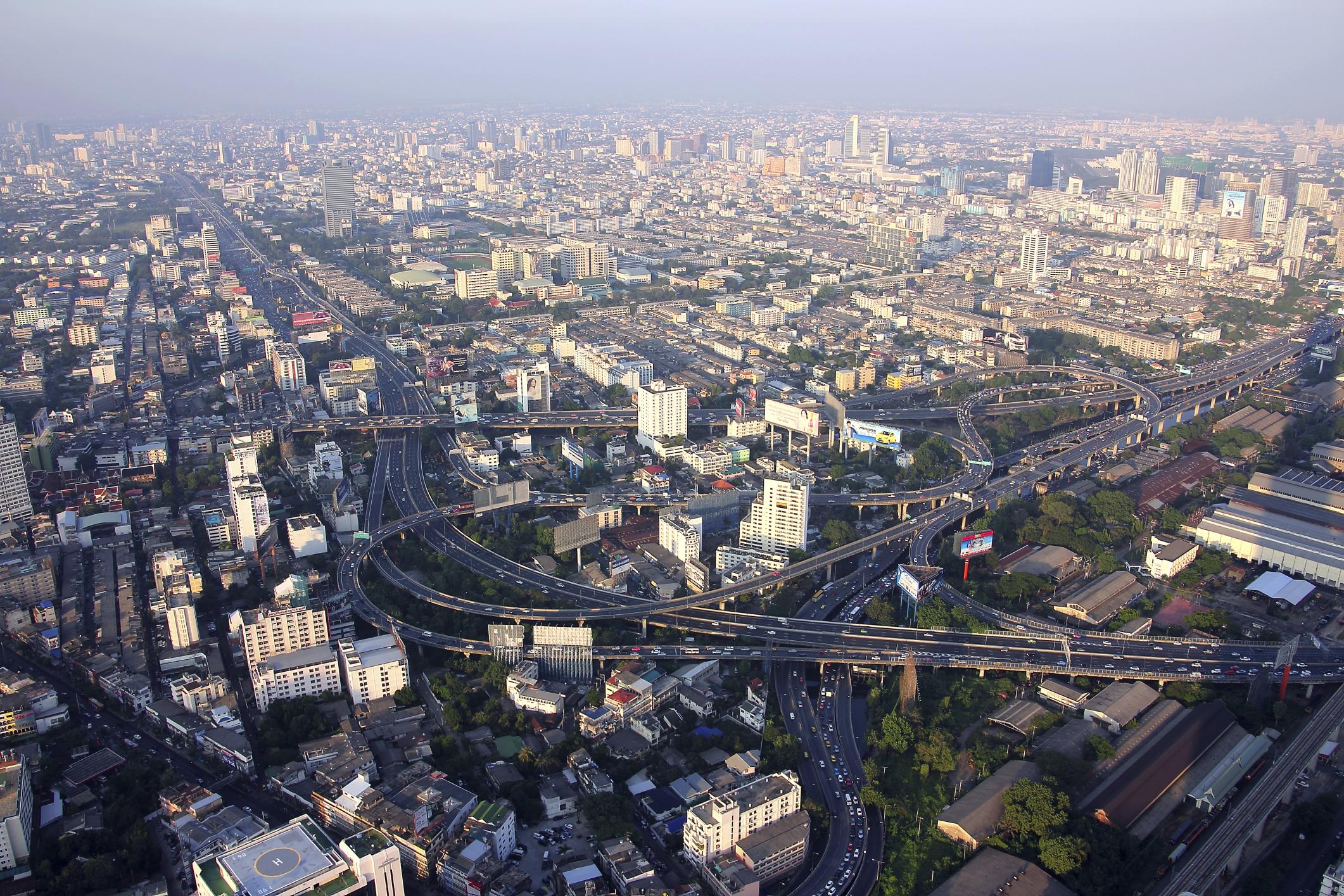 Смотровая площадка башни Байок-2, Бангкок, Таиланд, Азия