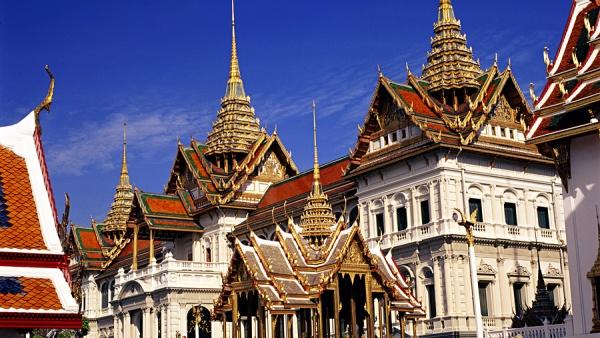 Большой Дворец и Храм Изумрудного Будды, Бангкок, Таиланд, Азия