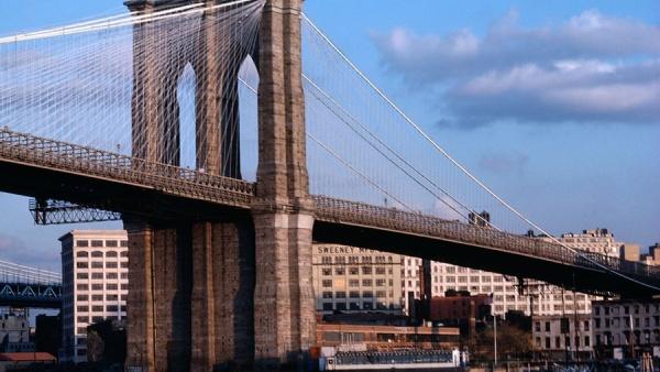 Бруклинский мост, Нью-Йорк, США, Северная Америка