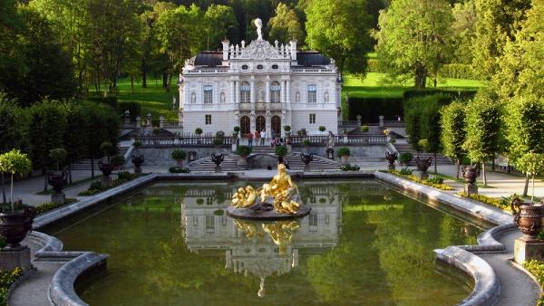 Замок Линдерхоф, Бавария, Германия, Европа