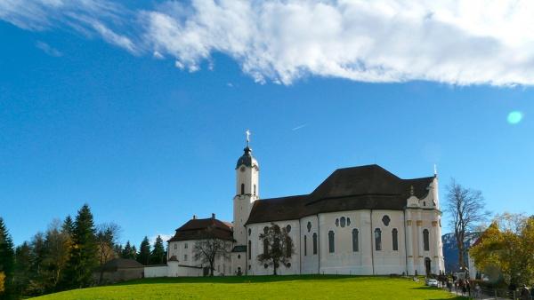 Церковь Вискирхе (Паломническая церковь в Висе), Бавария, Германия, Европа