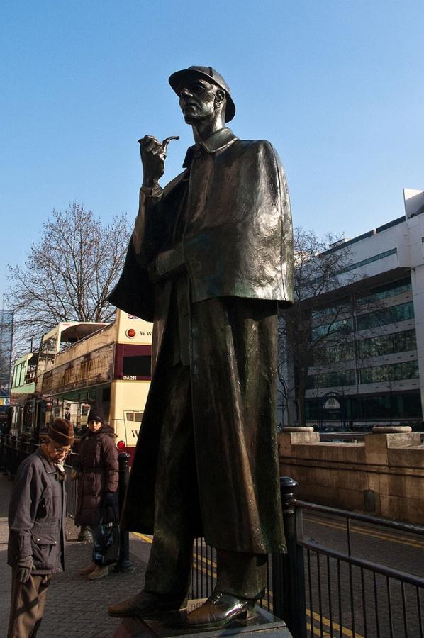 Памятник Шерлоку Холмсу в Лондоне, Великобритания - фотография 1 ...